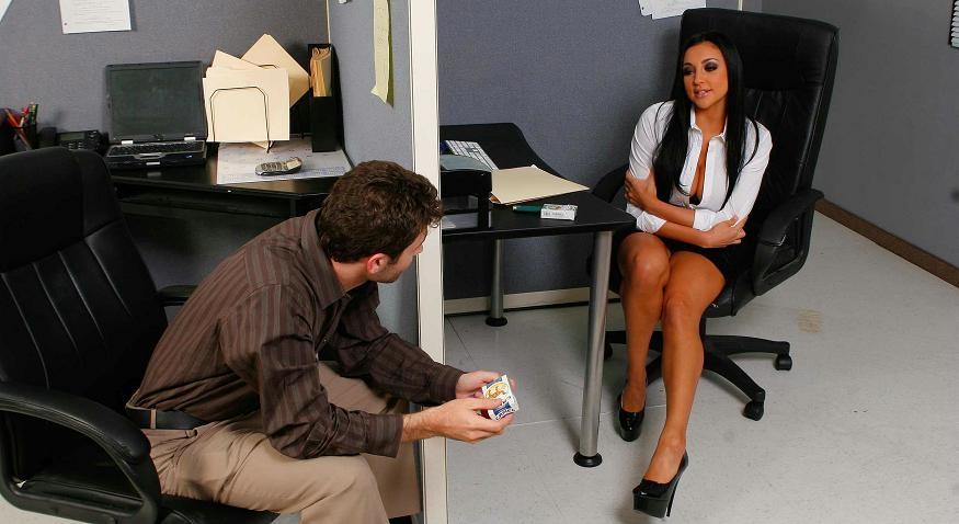 Audrey bitoni big tits at work guy would
