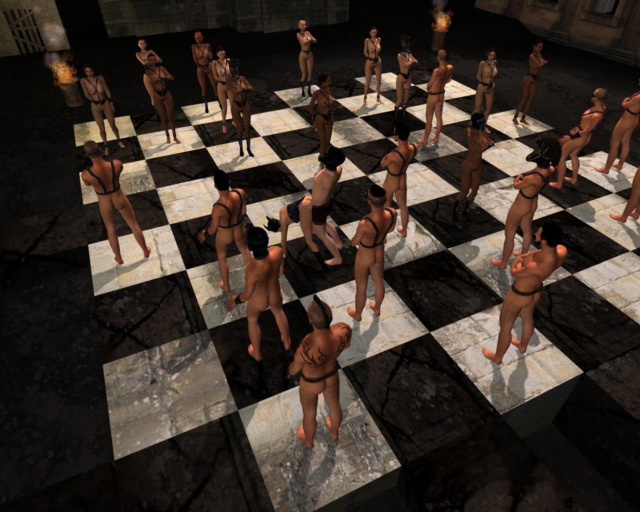 Развлекайтесь Игрой В Шахматы В Логической Порно Игре Шахматы С Пленницей