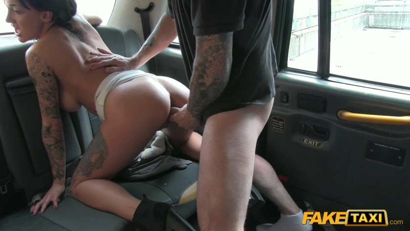 Fake taxi local escort fucks taxi man on her way to a client 7